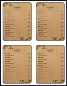 free printable banner templates for word menu example