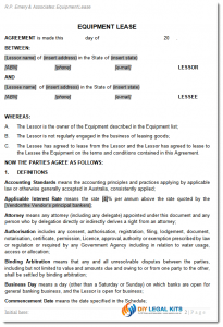 free printable basic rental agreement com equip lease sample