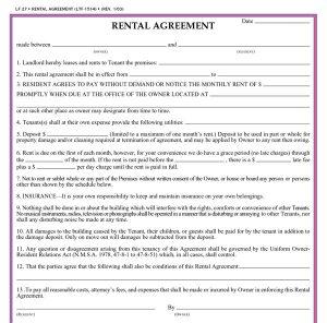 free printable basic rental agreement simple residential rental agreement forms