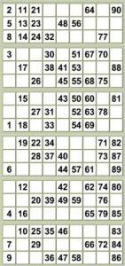 free printable bingo cards with numbers bingo strip