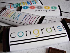 free printable candy bar wrappers congrats free candy bar printable x
