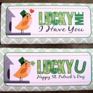 free printable candy bar wrappers free printable st pattys candy bar wrappers