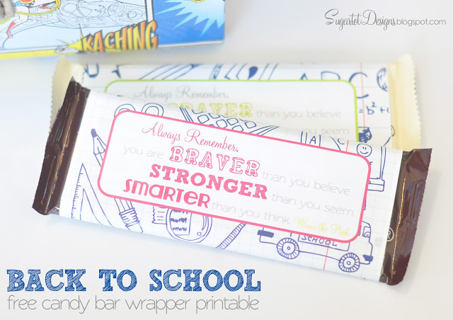 free printable candy bar wrappers