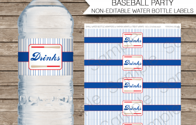 free printable candy bar wrappers templates baseball water bottle labels drinks