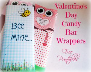 free printable candy bar wrappers valentines day candy bar wrapper bees and owls