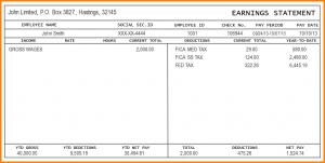 free printable check stubs free check stub template printables sample pay stub