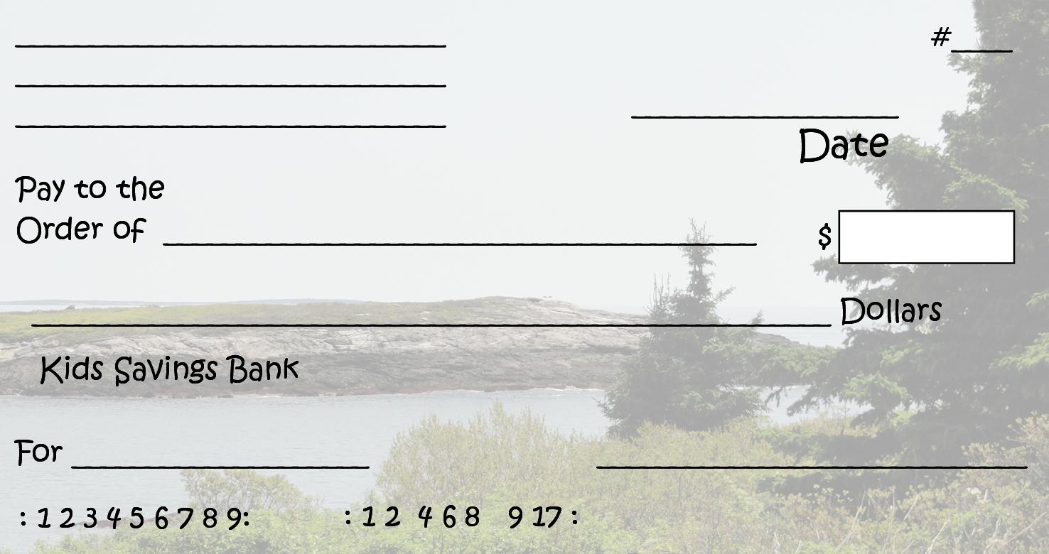 free printable checks template