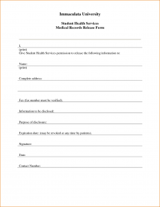 free printable child medical consent form medical release form template
