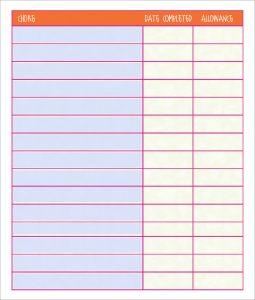 free printable chore chart templates free chore chart template