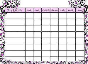 free printable chore chart templates free printable chore chart templates
