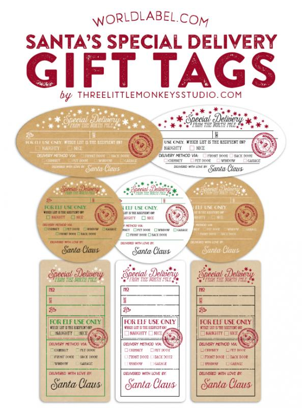 free printable customizable gift tags