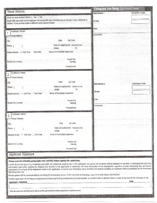 free printable employment application form pdf