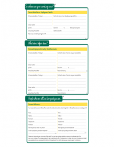 free printable employment application form pdf morrisons fresh job application form l