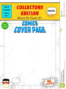 free printable id cards templates comic book cover illustration pop art style