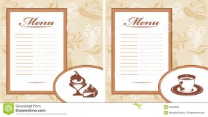 free printable id cards templates drinks pastry ice cream menu card template illustration