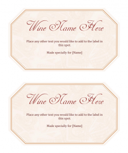 free printable label templates for word free printable wine label template
