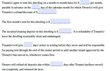 free printable lease agreement free lease agreement forms