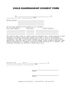 free printable legal guardianship forms child guardianship consent form