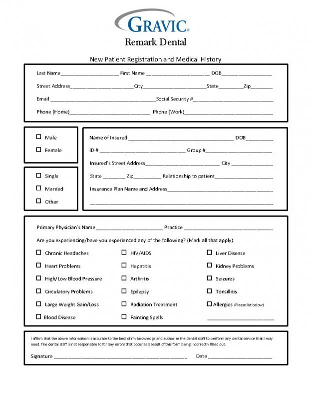 free printable medical history forms