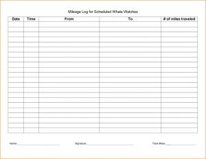 free printable mileage log irs mileage log