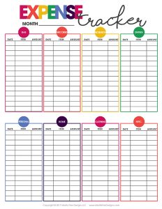 free printable monthly budget worksheets expense tracker
