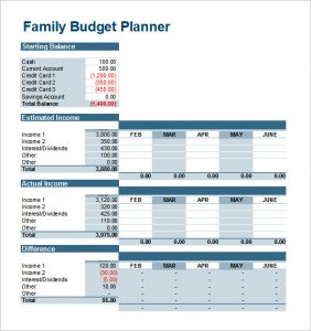 free printable monthly budget worksheets family budget planner template