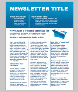 free printable newsletter templates business newsletter template min
