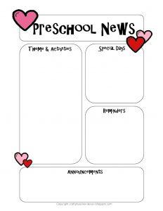 free printable newsletter templates newsletter templatefeb