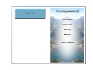free printable obituary templates free printable funeral program template for word to download