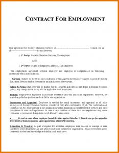 free printable obituary templates job contract template employment contract template