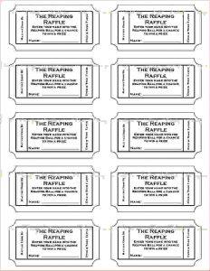 free printable raffle tickets template printable ticket template