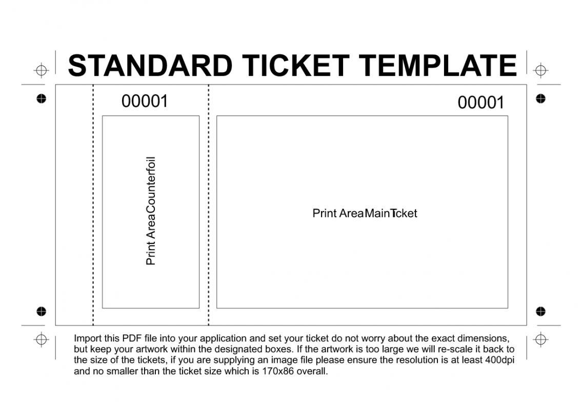 free printable raffle tickets template