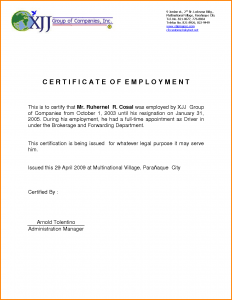 free printable timesheets certificate of employment resignation employment certificate