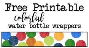 free printable water bottle labels for baby shower rainbow water bottle wrappers short