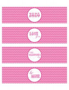 free printable water bottle labels valentines water bottle labels