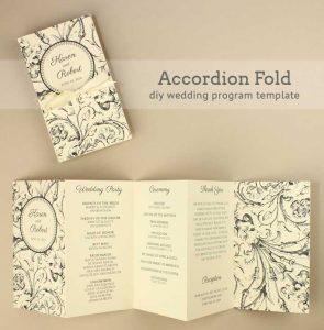 free printable wedding program templates free printable folded wedding program