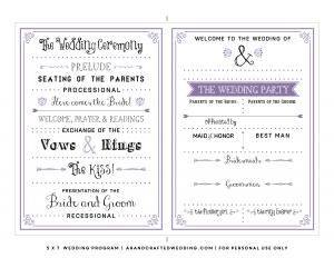 free printable wedding program templates free printable wedding program templates