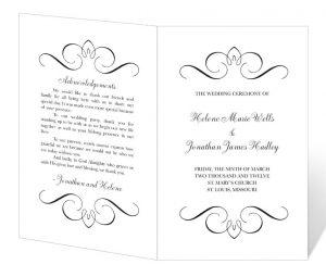 free printable wedding program templates il fullxfull pt