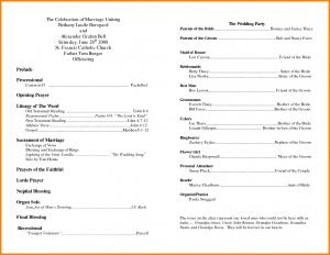 free printable wedding program templates word church program template free church wedding program templates