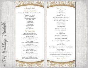 free printable wedding program templates word il fullxfull lc