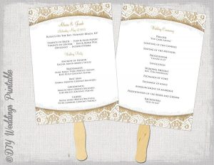 free printable wedding program templates word wedding program fan template rustic quotburlap lacequot diy order of ceremony program printable program fans you edit digital download