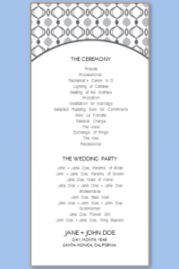 free program templates wedding program templates free