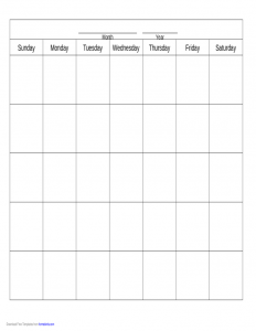 free proposal templates blank calendar template l