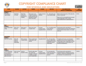 free proposal templates copyright compliance chart for schools and educators w