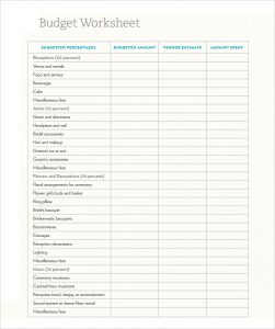 free proposal templates wedding budget template