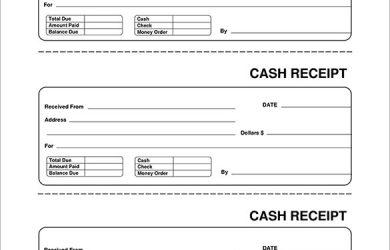 free receipt template blank receipt