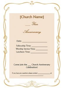 free registration form template churchanniversaryinvitation