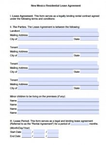 free rental agreement forms new mexico residential lease agreement x