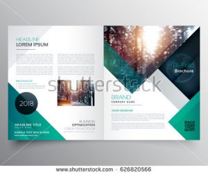 free report card template stock vector business bifold brochure or magazine cover design vector template