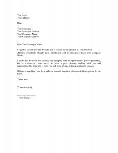 free resignation letter resignation letter samples